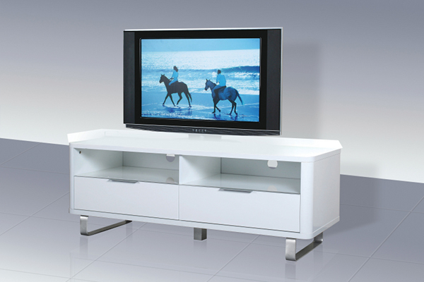 Accent White High Gloss Low Sideboard/tv Unit Regarding Trendy White High Gloss Corner Tv Unit (Gallery 12 of 20)