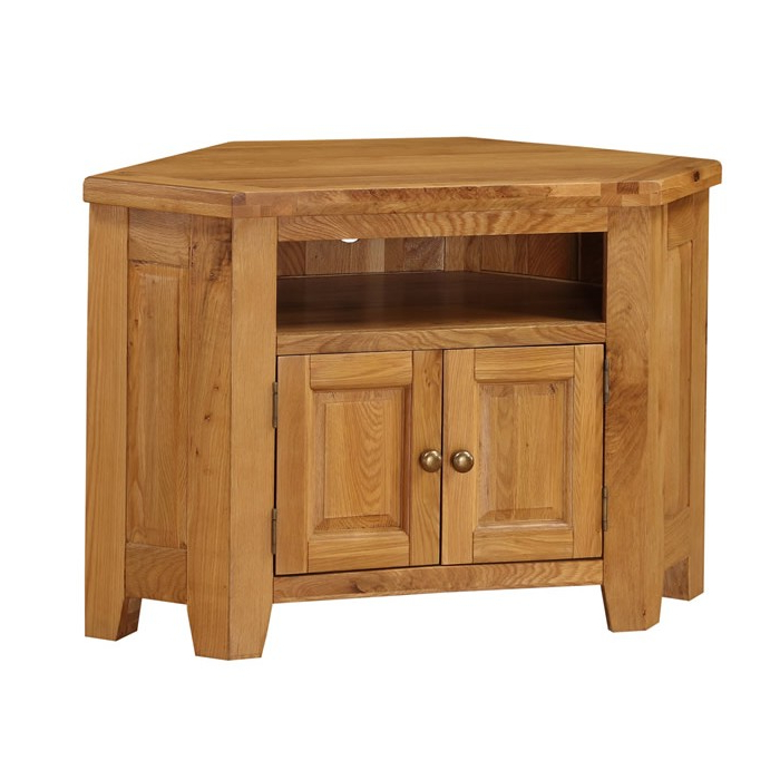 Acorn Solid Oak Corner Tv Unit Inside Well Liked Solid Oak Corner Tv Cabinets (Gallery 18 of 20)