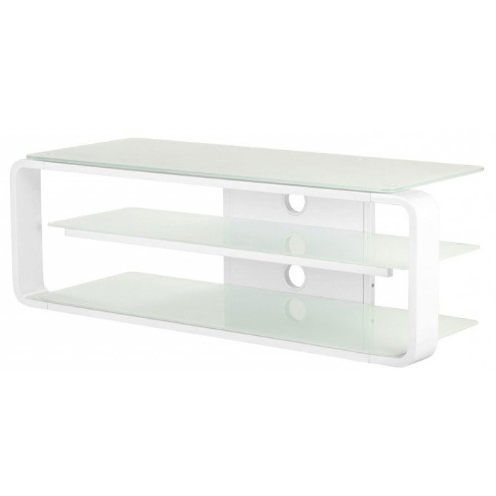 Alphason Adl1150 Wht Large Glass Tv Stand With Floating Shelf White Inside Best And Newest White Glass Tv Stands (View 13 of 20)