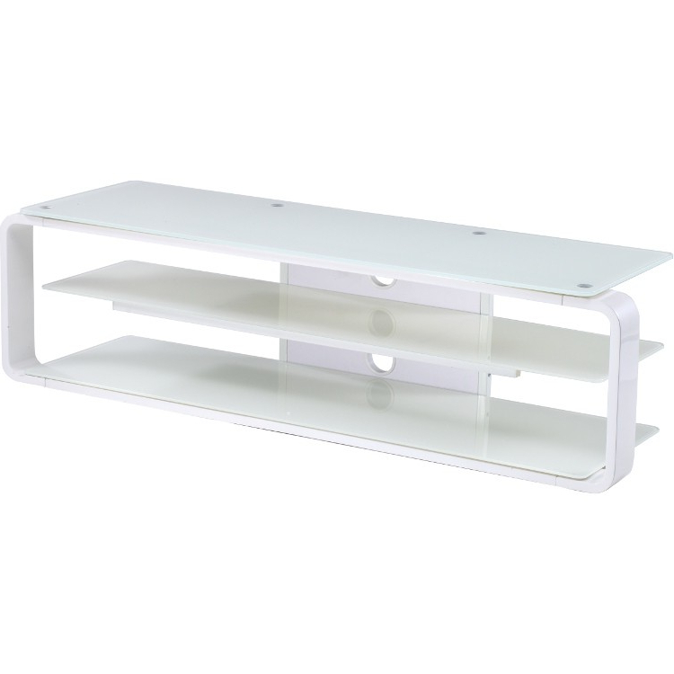Alphason Adl1400 Wht Large Glass Tv Stand With Floating Shelf White In Most Popular Floating Glass Tv Stands (View 3 of 20)