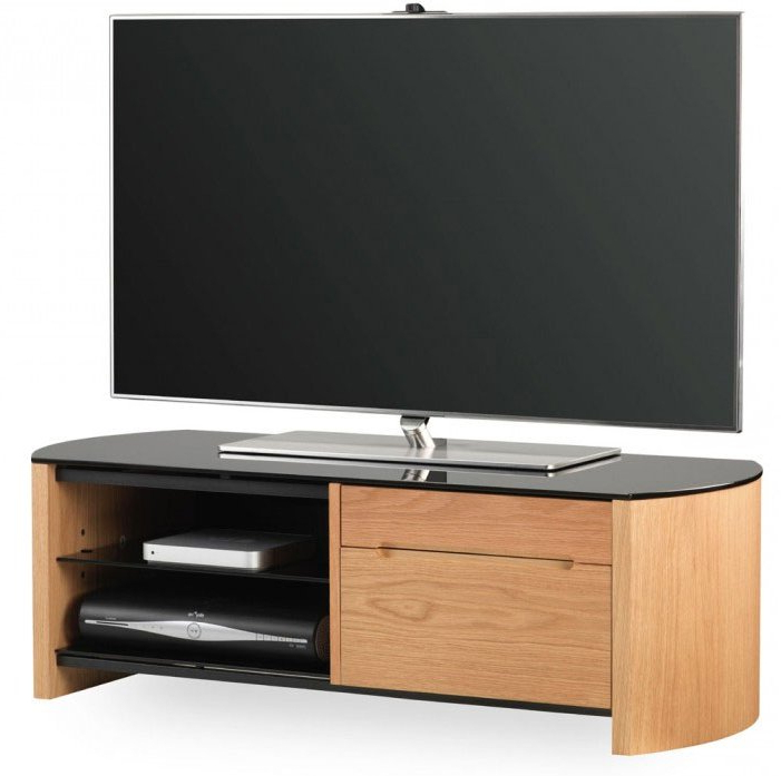 Alphason Fw1100Cb Oak Veneer Tv Stand Intended For Widely Used Oak Veneer Tv Stands (Gallery 4 of 20)