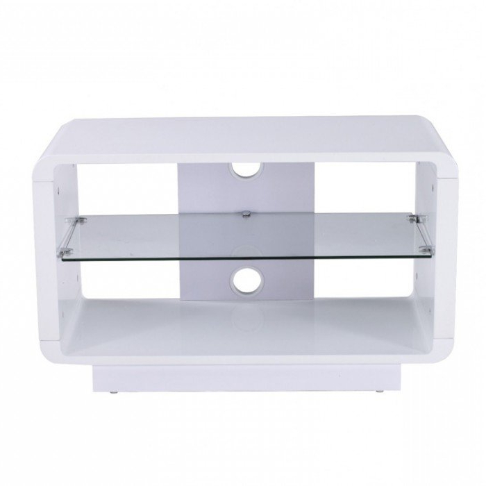 Alphason Luna Adlu800 Wht High Gloss White Tv Stand Regarding Well Known High Gloss White Tv Stands (View 3 of 20)
