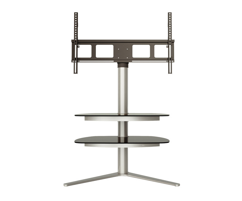 Alphason Radius Rad720 Silver Tv Stand W/ Tv Bracket – Alphason Within Best And Newest Bracketed Tv Stands (View 4 of 20)