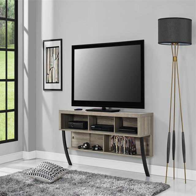Altra Furniture Altra Asher Wall Mounted 65Inch Tv Stand Sonoma Oak With Favorite Wall Mounted Tv Stands For Flat Screens (View 8 of 20)