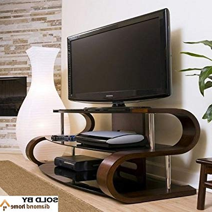 "Amazon: 60"" Modern Curvy Tv Stand, This S Shaped Tv Stand Intended For Most Current Modern Contemporary Tv Stands (Gallery 19 of 20)"
