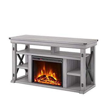 Amazon: Ameriwood Home 1775296Com Wildwood Fireplace Tv Stand Within Widely Used Kilian Grey 60 Inch Tv Stands (View 2 of 20)