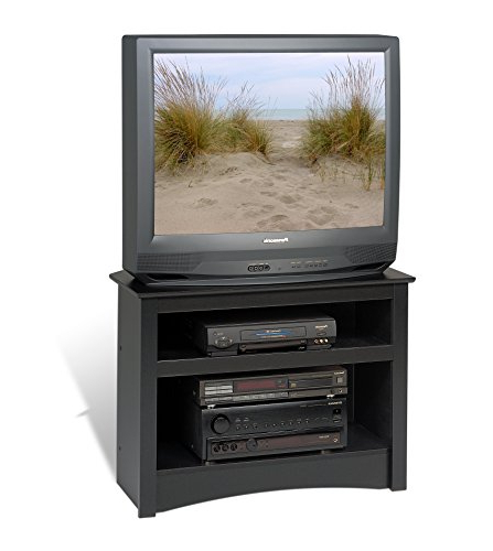 Amazon: Black Corner Tv Stand: Kitchen & Dining With Regard To Well Known Black Wood Corner Tv Stands (View 3 of 20)