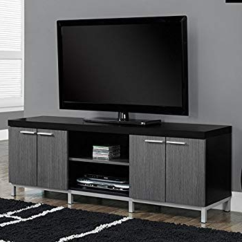 Amazon: Contemporary Tv Stands For Flat Screens Black Gray Pertaining To Recent Contemporary Tv Stands For Flat Screens (Gallery 19 of 20)