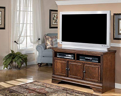 Amazon: Dark Brown Medium Tv Stand – Signature Designashley Within Most Current Maddy 50 Inch Tv Stands (View 11 of 20)