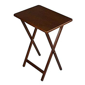 Amazon: Folding Wooden Tv Tray Table, Dark Wood Finish, Plus For Most Recent Folding Wooden Tv Tray Tables (Gallery 1 of 20)