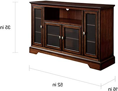 Amazon: Haven Ex 72 Inch Solid Wood Tv Stand / Tv Console With Regard To Most Up To Date Hard Wood Tv Stands (View 2 of 20)
