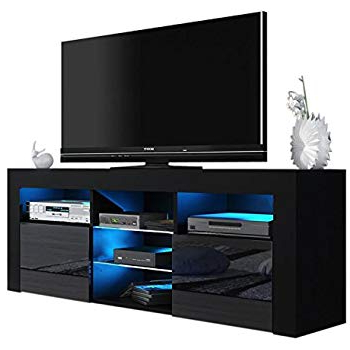 Amazon: Helios 157 Contemporary Tv Entertainment Stands For With 2018 Kenzie 72 Inch Open Display Tv Stands (Gallery 2 of 20)