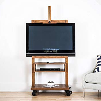 Amazon: Hives And Honey Cullen Oak 3 Tier Tv Stand For Flat Tv Pertaining To 2018 Easel Tv Stands For Flat Screens (Gallery 12 of 20)