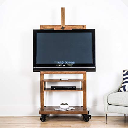 Amazon: Hives And Honey Cullen Oak 3 Tier Tv Stand For Flat Tv Regarding Favorite Honey Oak Tv Stands (Gallery 4 of 20)