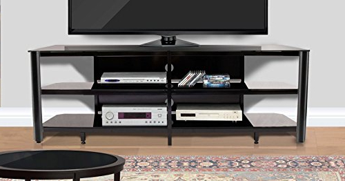 """Amazon: Innovex Tpt73G29 Oxford Fold N Snap 73"""" Glass Tv Stand Within 2018 Oxford 60 Inch Tv Stands (Gallery 9 of 20)"""