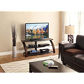 "Amazon: Jaxon 3 In 1 Cognac Tv Stand For Tvs Up To 70"": Kitchen Within Famous Jaxon 71 Inch Tv Stands (View 11 of 17)"