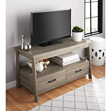 Amazon: Mainstay Logan Tv Stand For Flat Screen Tvs Up To 47 With Best And Newest Canyon 64 Inch Tv Stands (Gallery 19 of 20)