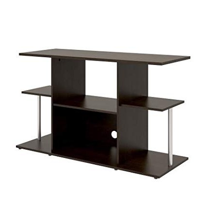 Amazon: Mainstays Unique Entertainment Tv Stand Cabinet Console Pertaining To Preferred Unique Tv Stands For Flat Screens (View 4 of 20)