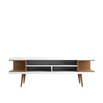 Amazon: Manhattan Comfort Utopia Collection Mid Century Modern Intended For Well Liked Century White 60 Inch Tv Stands (View 3 of 20)