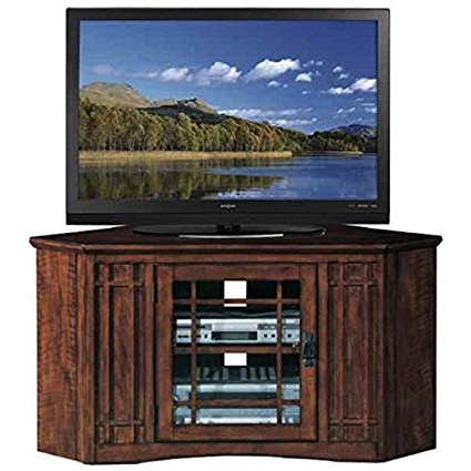 Amazon: Mission Oak 46 Inch Corner Tv Stand & Media Console Wood Within Well Known Corner Tv Stands For 46 Inch Flat Screen (View 6 of 20)