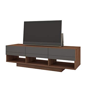 Amazon: Nexera 105142 Radar Tv Stand, 60 Inch, Walnut & Charcoal Inside Most Recently Released Nexera Tv Stands (Gallery 9 of 20)
