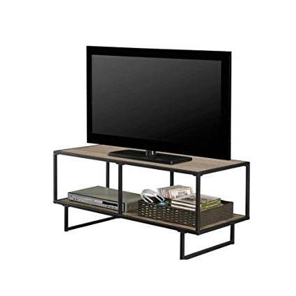 Amazon: Rustic Tv Stand With Metal Frame Living Room Media With Regard To Most Recent Cheap Rustic Tv Stands (View 2 of 20)