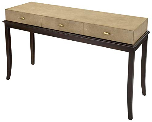 Amazon: Safavieh American Homes Collection Tropez Beige Faux Inside Most Recent Faux Shagreen Console Tables (View 3 of 20)