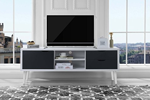 Amazon: Sofamania Mid Century Style Tv Stand, Living Room Regarding Popular Rowan 45 Inch Tv Stands (View 2 of 20)