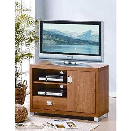 Amazon: Techni Mobili Kodiak Maple Tv Stand With Drawer, For Tvs Inside Most Current Maple Tv Stands For Flat Screens (Gallery 13 of 20)