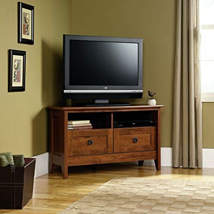 Amazon: Tv Stand For Flat Screens Entertainment Center Sauder With Famous Corner Oak Tv Stands For Flat Screen (View 4 of 20)