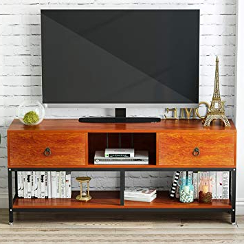 "Amazon: Tv Stand With Bookshelf, Little Tree 60"" Large Throughout Famous Oscar 60 Inch Console Tables (View 13 of 20)"