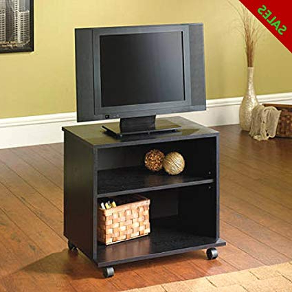 Amazon: Tv Stands For Flat Screens 26'' Small Tv Stand Intended For Well Known Small Tv Stands On Wheels (View 11 of 20)