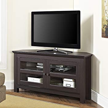 "Amazon: We Furniture 44"" Cordoba Corner Tv Stand Console Pertaining To 2017 Cordoba Tv Stands (Gallery 2 of 20)"