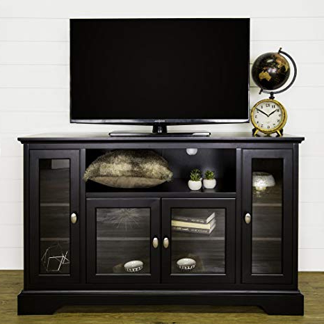 "Amazon: We Furniture 52"" Wood Highboy Style Tall Tv Stand With Regard To Current Very Tall Tv Stands (Gallery 14 of 20)"
