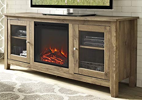 "Amazon: We Furniture 58"" Wood Media Tv Stand Console With Pertaining To Newest Casey Umber 66 Inch Tv Stands (Gallery 4 of 20)"