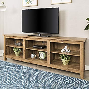 "Amazon: We Furniture 70"" Espresso Wood Tv Stand Console: Kitchen Throughout Most Current Maddy 50 Inch Tv Stands (View 3 of 20)"