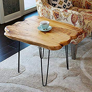 Amazon: Welland Live Edge Coffee Table, Wood Slab Coffee Table Intended For Most Recent Moraga Live Edge Plasma Console Tables (View 6 of 20)