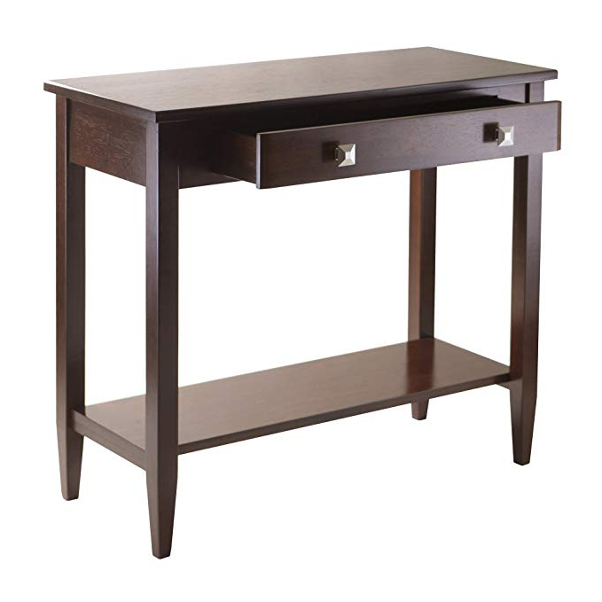 Amazon: Winsome Richmond Console Hall Table With Tapered Leg Intended For Preferred Layered Wood Small Square Console Tables (Gallery 10 of 20)