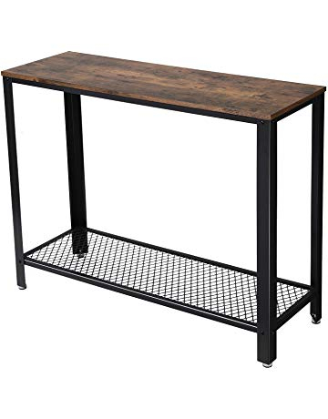 Amazon With Current Parsons Black Marble Top & Dark Steel Base 48X16 Console Tables (View 2 of 20)