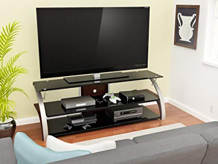 Amazon: Z Line Designs Elecktra Tv Stand, 55 Inch, Brown For Well Liked Edwin Black 64 Inch Tv Stands (Gallery 4 of 20)
