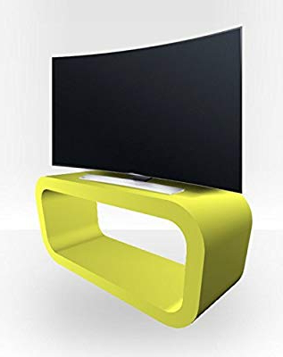 Amazon: Zespoke Curved Tv Stand – Lime Green Matt: Kitchen & Dining In Preferred Green Tv Stands (View 2 of 20)