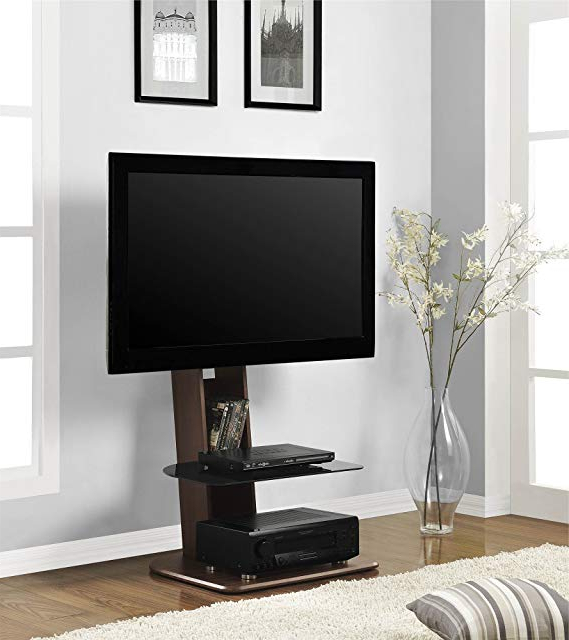 """Ameriwood Home Galaxy Tv Stand With Mount For Tvs Up To 50"""" Wide, Walnut Inside Most Recent Emerson Tv Stands (View 3 of 20)"""