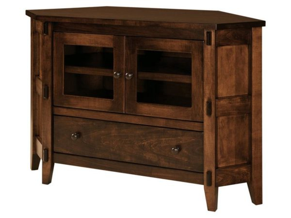 Amish Bungalow Corner Tv Cabinet Inside Most Current Small Corner Tv Stands (Gallery 6 of 20)