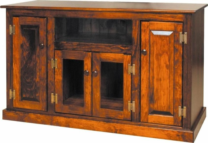 """Amish Pine Wood Flat Screen Tv Stand 50"""" (Gallery 16 of 20)"""