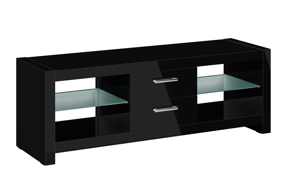 Andora Black High Gloss Tv Cabinet With High Gloss Tv Cabinets (Gallery 17 of 20)