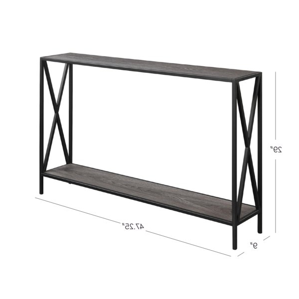 Andover Mills Abbottsmoor Metal Frame Console Table & Reviews (Gallery 1 of 20)