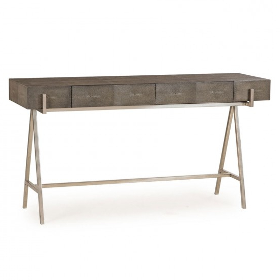 Andrew Martin Faux Shagreen Sampson Console Table (Gallery 15 of 20)