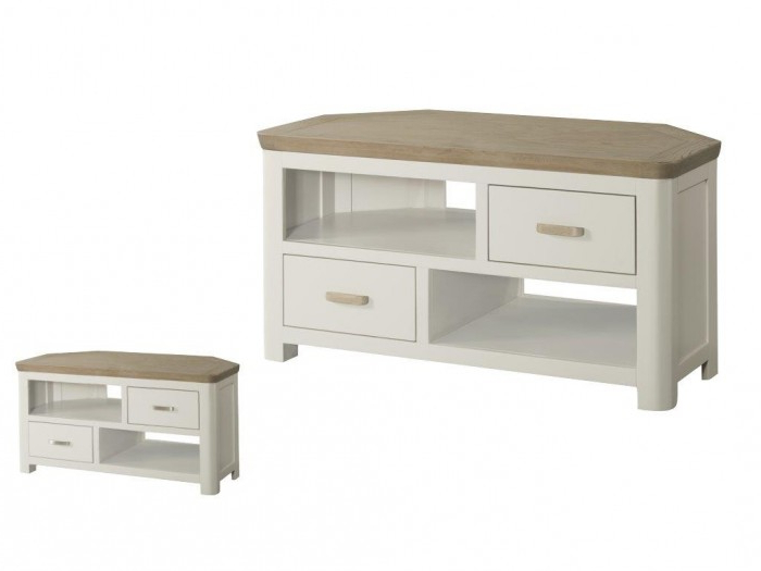 Annaghmore Treviso Painted Corner Tv Unit – Qlm Home Within Favorite Painted Corner Tv Cabinets (View 3 of 20)