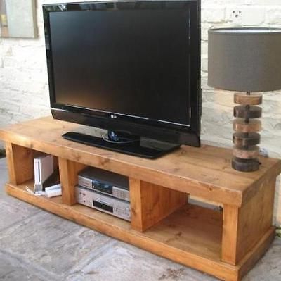 """Any Size Made"""" Solid Wood Entertainment Unit Tv Stand Cabinet Rustic For Fashionable Wooden Tv Stands With Doors (View 4 of 20)"""