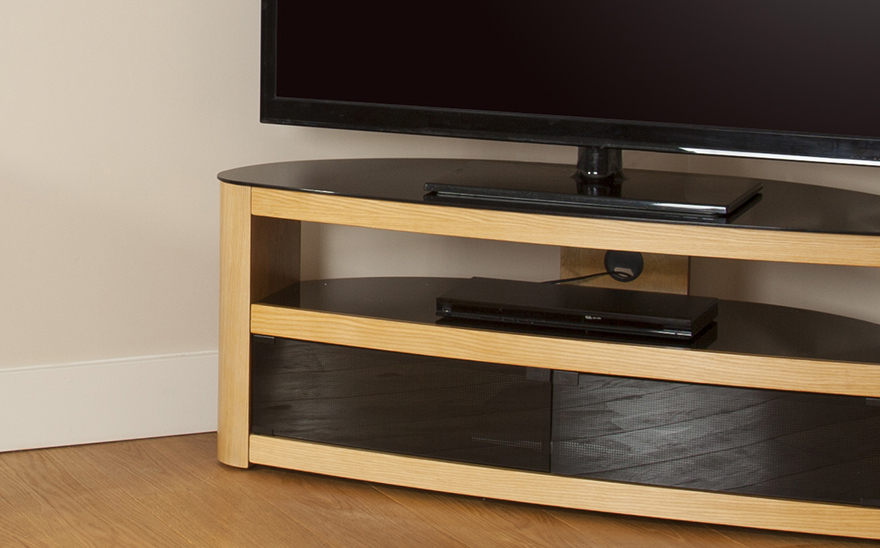 Avf Burghley Fs1250 Oak Tv Stand Within Popular Dixon White 65 Inch Tv Stands (View 2 of 20)